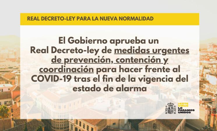 Coronavirus: El Gobierno aprueba el real decreto que establece las medidas que regirán en la nueva normalidad