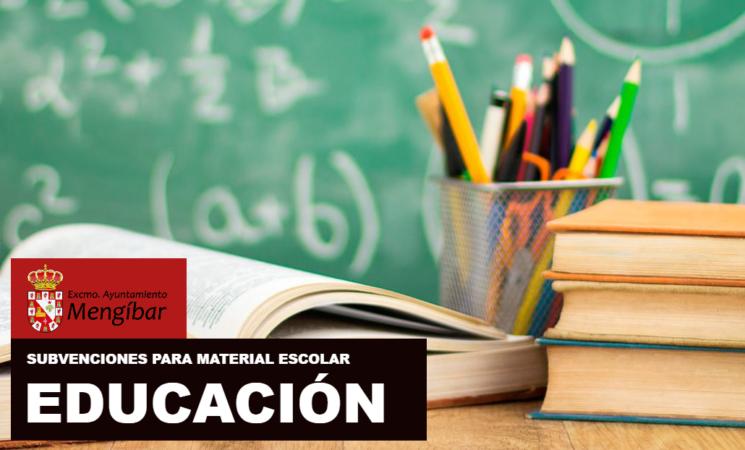 El Ayuntamiento de Mengíbar informa de la resolución provisional de las ayudas para material escolar para el nuevo curso y anuncia una segunda convocatoria