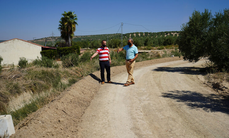 El Ayuntamiento de Mengíbar arregla el Camino de Los Chorrillos tras los destrozos y duplicará la inversión en mejoras de vías rurales