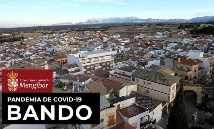 Bando del Alcalde de Mengíbar sobre la implantación de nuevas medidas a consecuencia de la evolución de la pandemia de COVID-19 en nuestro municipio