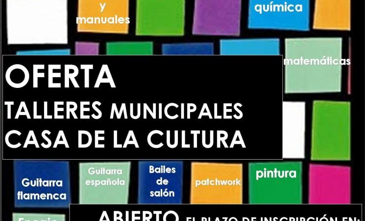 Abierto el plazo para presentar proyecto de talleres municipales