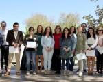 Entrega de diplomas en la II Feria del Comercio y de la Tapa de Mengíbar