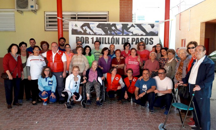 Vecinos participan en 'Por un millón de pasos'