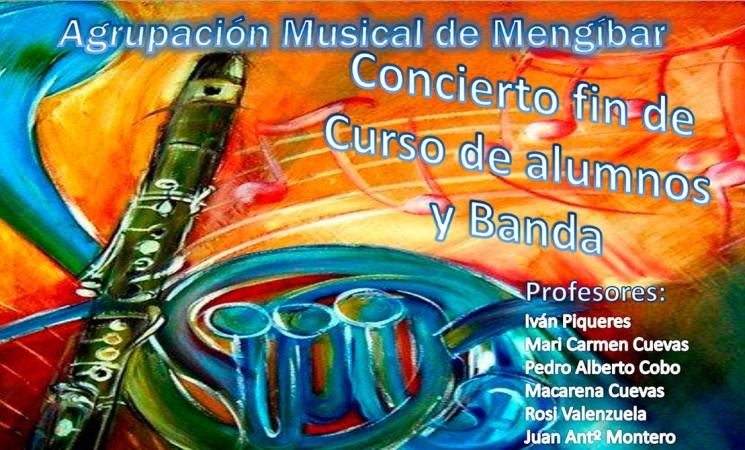 Concierto de fin de curso de la Agrupación Musical de Mengíbar, el viernes 23