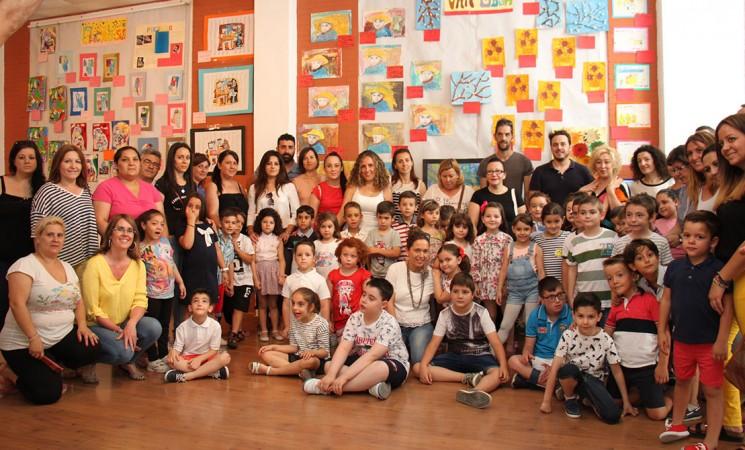 Exposición de los 'pequeños artistas' del Colegio Santa María Magdalena de Mengíbar