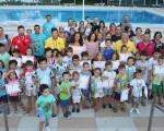 Clausura de los cursos de natación en la Piscina Municipal de Mengíbar