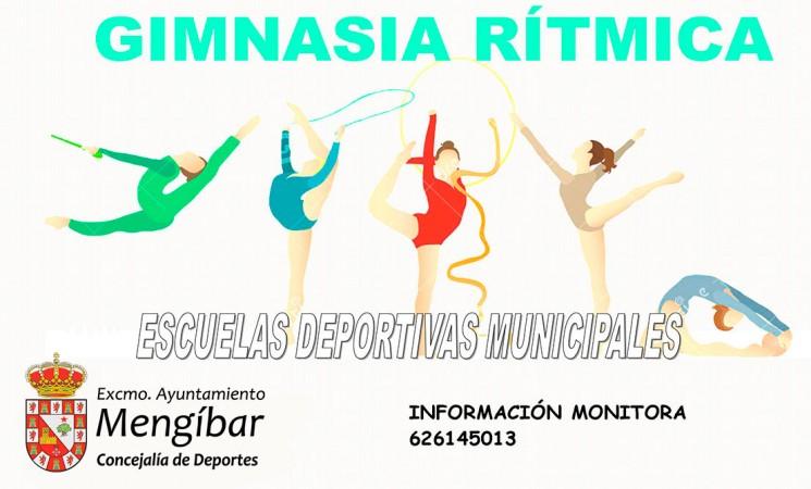 Cartel de las Escuelas Deportivas Municipales de Gimnasia Rítmica