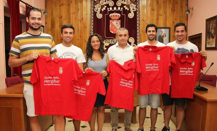 Equipaciones para los ganadores de la Liga Local de Fútbol Sala de Mengíbar