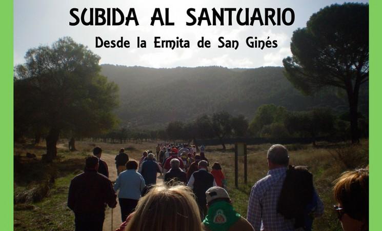 Subida de Abriendo Camino al Santuario de la Virgen de la Cabeza el domingo 12 de noviembre