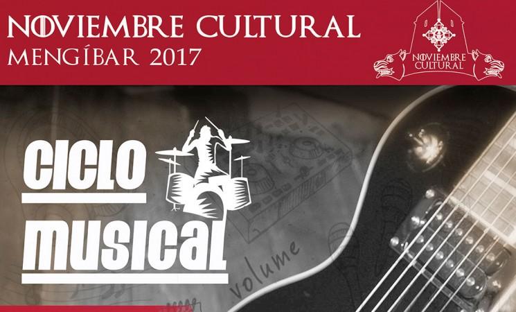 Caballito de Mar Man, Único y Noelia Cazalla en el Ciclo Musical del Noviembre Cultural de Mengíbar