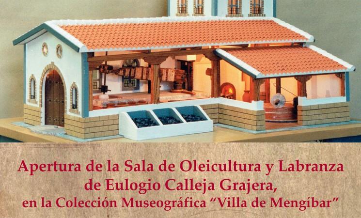 Cartel de la apertura de la nueva sala de la Colección de Eulogio Calleja en el Edificio de Usos Múltiples de Mengíbar