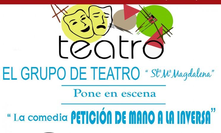 Teatro 'Petición de mano a la inversa', el 11 de noviembre, en el Auditorio de Mengíbar