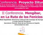 Conferencias sobre el Proyecto Iliturgi y Mengíbar en la Ruta de los Fenicios, el jueves 9 de noviembre