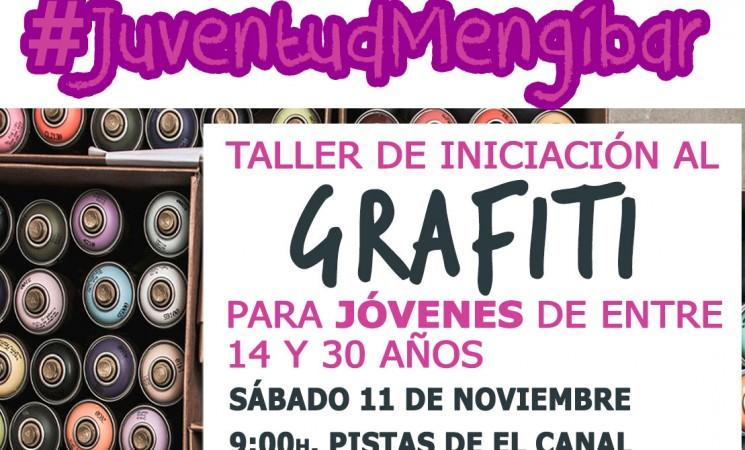 Taller de grafiti gratuito para jóvenes de Mengíbar, el sábado 11 de noviembre