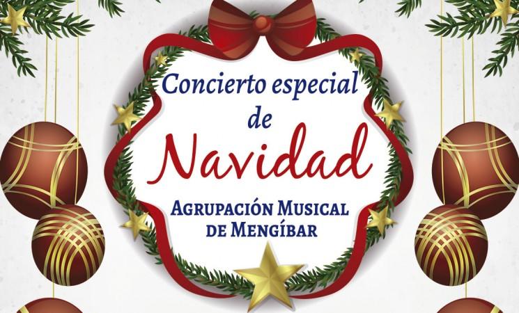 Concierto especial de Navidad de la Agrupación Musical de Mengíbar, el sábado 23 de diciembre