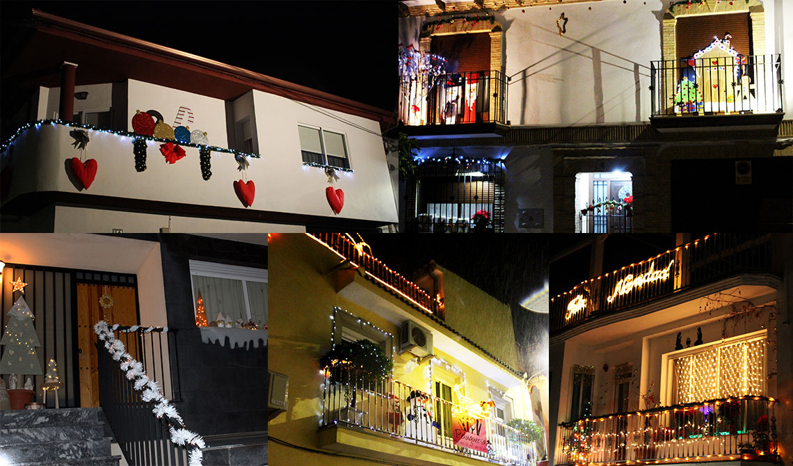 Imagenes Balcones Adornos Navidad.Doce Participantes En El Concurso De Adorno Navideno De