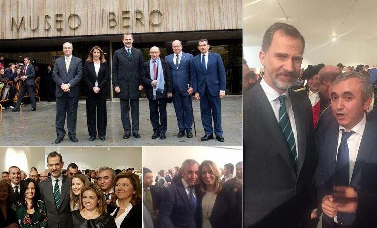 El alcalde de Mengíbar asiste a la inauguración del Museo Íbero de Jaén