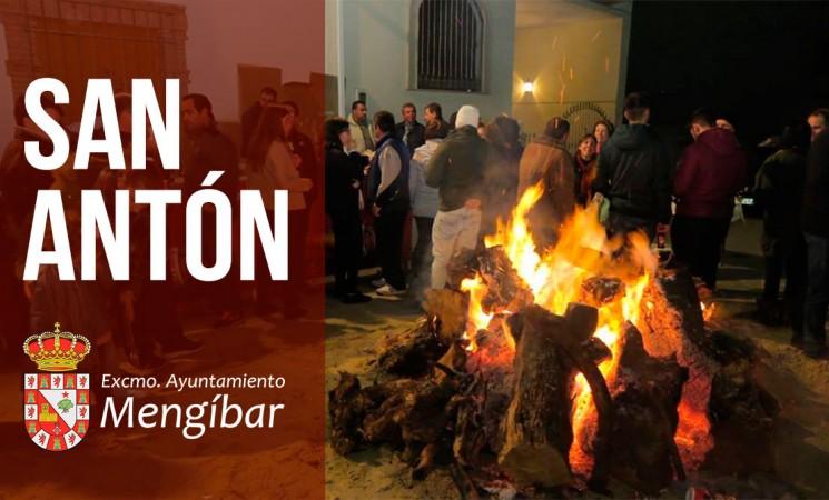 44 lumbres iluminarán la noche de la víspera de San Antón en Mengíbar