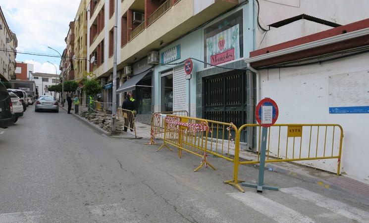 Corte parcial de la Calle Real los días 5 y 6 de febrero por obras del Ayuntamiento de Mengíbar