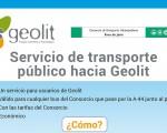 Servicio de transporte público a Geolit desde Mengíbar, Jaén, Linares y Bailén