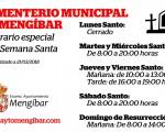 Horario especial del Cementerio de Mengíbar en Semana Santa 2018