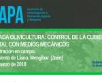 Jornada sobre olivicultura y el control de la cubierta vegetal con control mecánico en el Ifapa de Mengíbar