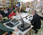 Radio escolar en el Colegio Manuel de la Chica, de Mengíbar, con una programación dedicada al Día de Andalucía