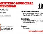 Nuevo horario del Cementerio Municipal de Mengíbar