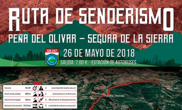 Ruta de Senderismo 'Peña del Olivar – Segura de la Sierra' desde Mengíbar, el 26 de mayo de 2018