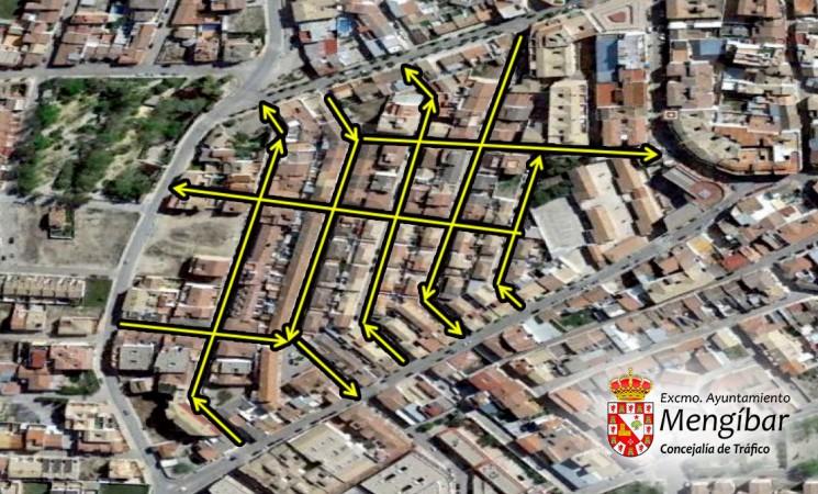 El Ayuntamiento de Mengíbar reordena el tráfico de las calles del barrio de Osuna para mejorar la seguridad de la circulación de vehículos