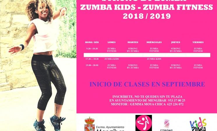 Nuevo curso de Strong, Zumba y Zumba Kids en Mengíbar, a partir del 3 de septiembre