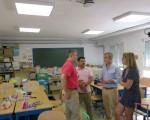 El Ayuntamiento de Mengíbar renueva la iluminación del Colegio Manuel de la Chica con una inversión de casi 9.000 euros