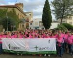 Cientos de personas participan en la III Marcha Solidaria 'Mengíbar se une al cáncer'