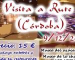 La Concejalía de Turismo de Mengíbar organiza una visita a Rute (Córdoba) el próximo 9 de diciembre de 2018