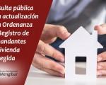Consulta pública para la modificación de la ordenanza del Registro Público Municipal de Demandantes de Vivienda Protegida del Ayuntamiento de Mengíbar