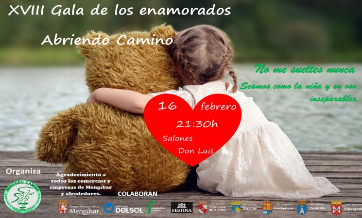 La XVIII Gala de los Enamorados de Abriendo Camino de Mengíbar será el próximo 16 de febrero