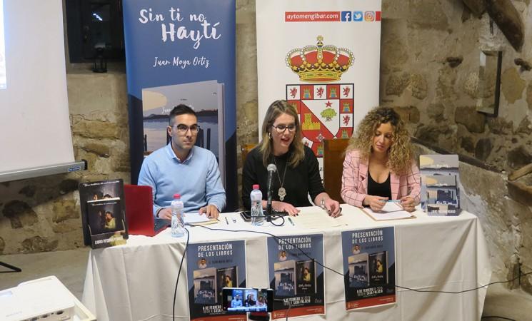Juan Moya Ortiz presenta sus dos primeros libros en la Casa Palacio de Mengíbar