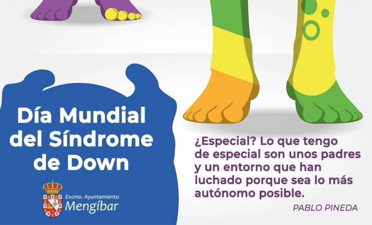 Cartel del Día Mundial del Síndrome de Down en las redes sociales del Ayuntamiento de Mengíbar