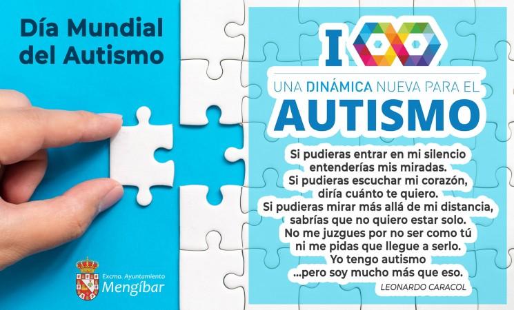 Cartel del Día Mundial del Autismo en las redes sociales del Ayuntamiento de Mengíbar