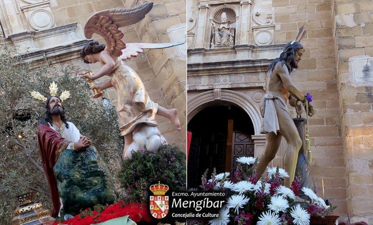 Semana Santa - Mengíbar 2019 / Jueves Santo: Itinerario e información de la procesión de la Oración en el Huerto y Jesús Amarrado a la Columna
