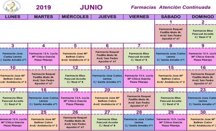 Farmacias de guardia en Mengíbar durante el mes de junio de 2019