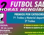 Horarios y grupos de los partidos de las 12 Horas de Fútbol Sala - Mengíbar 2019