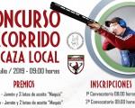 Concurso Recorrido de Caza Local de Mengíbar, el próximo 13 de julio de 2019