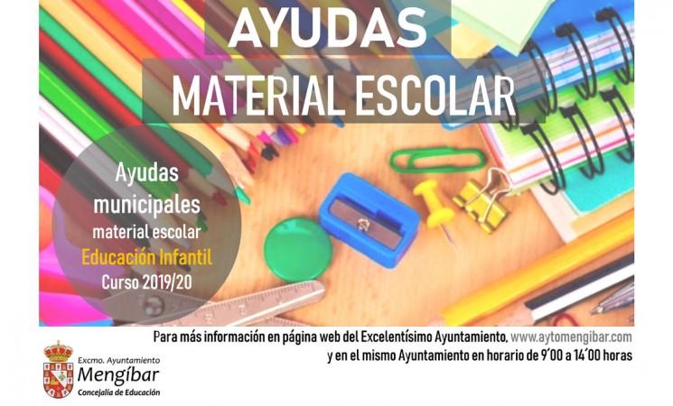 El Ayuntamiento de Mengíbar informa de la convocatoria de ayudas para material escolar para el alumnado de Infantil