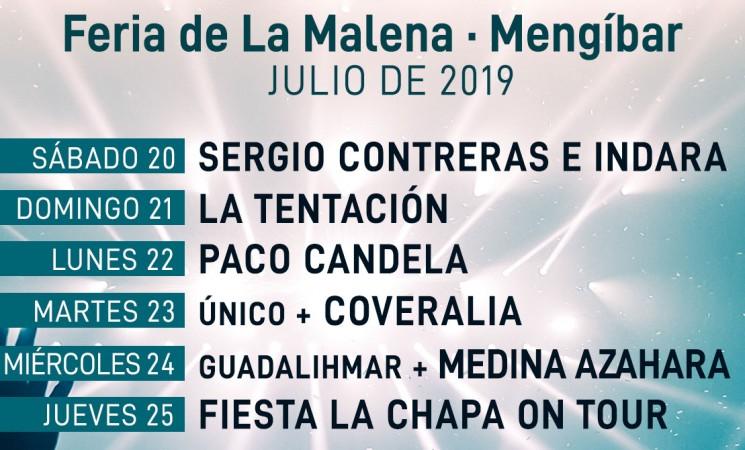 Conciertos de la Feria de La Malena - Mengíbar Julio 2019