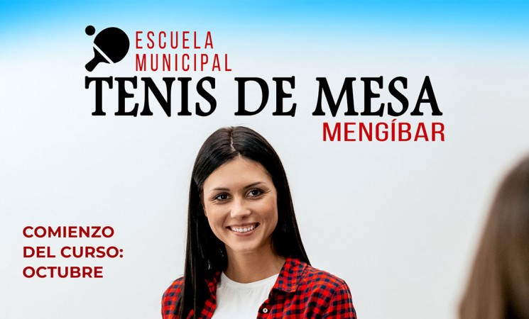 El Ayuntamiento de Mengíbar abre la inscripción para la Escuela Municipal de Tenis de mesa 2019/2020