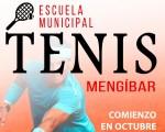 El Ayuntamiento de Mengíbar abre la inscripción para la Escuela Municipal de Tenis 2019/2020