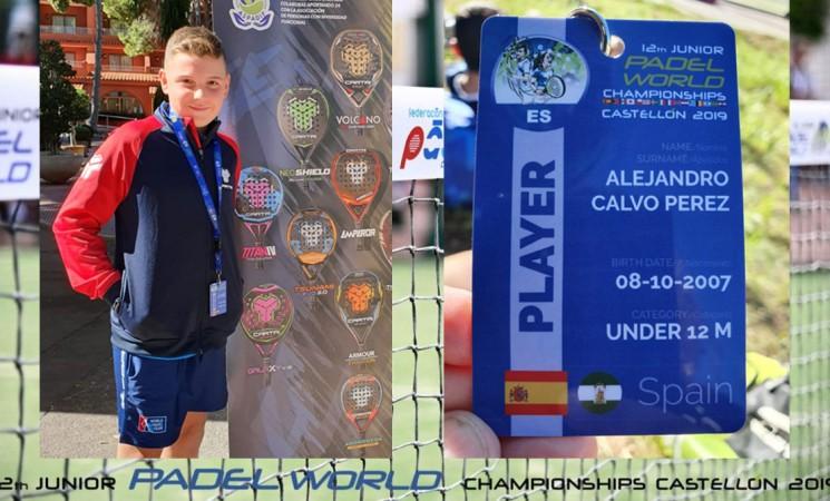 Alejandro Calvo Pérez, de Mengíbar, vuelve a hacer historia: se queda cuarto en el Mundial de Menores de Pádel