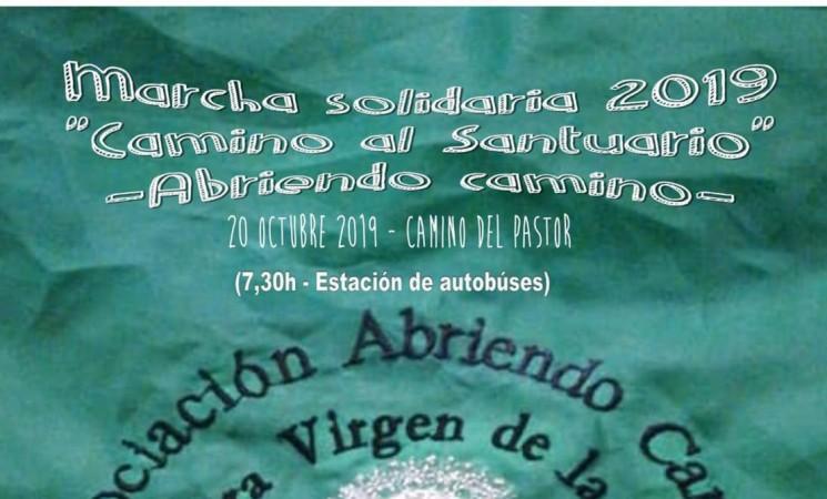 La Marcha Solidaria 'Camino al Santuario', de Abriendo Camino, será el próximo domingo 20 de octubre de 2019