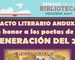 Homenaje a la Generación del 27 en la Biblioteca Municipal de Mengíbar, el próximo 23 de octubre de 2019